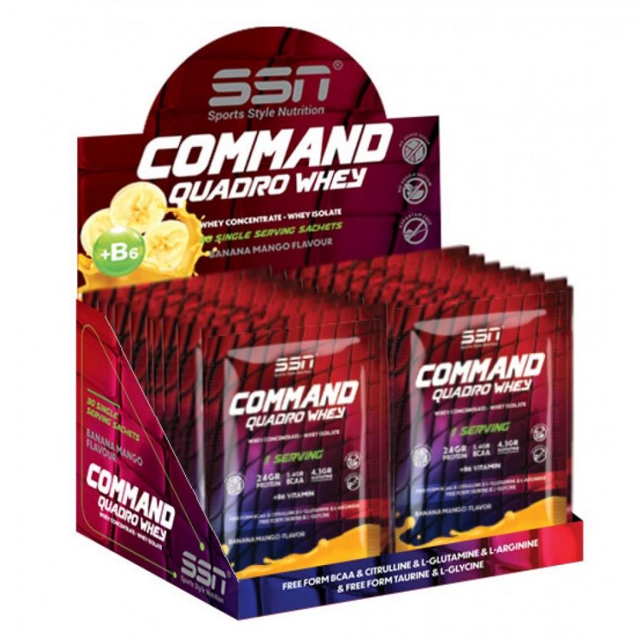 SSN COMMAND QUADRO WHEY 30X30 ŞASE (MUZ/MANGO)